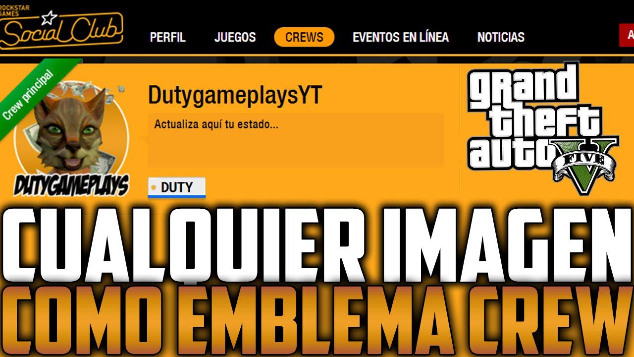 COMO PONER CUALQUIER IMAGEN COMO EMBLEMA DE CREW | GTA V 1.20