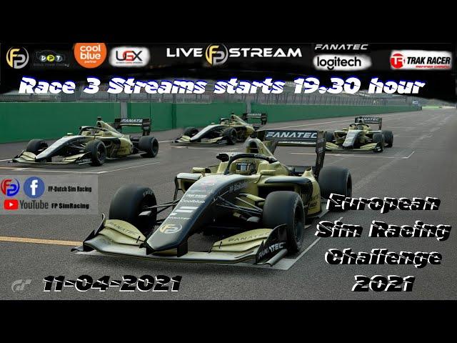 Livestream FP SimRacing European Challenge race 3 Monza Super Formula