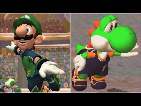 Super Mario Strikers - Luigi Vs Yoshi - GameCube Gameplay (4K60fps)