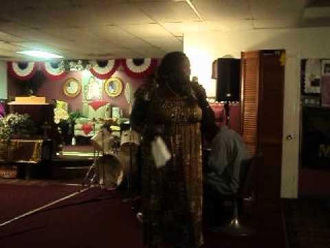 APOSTLE DOROTHY ADAMS AT JESUSCHRISTPRAYERBAND FT PIERCE FLA JUNE 3 SUN NITE