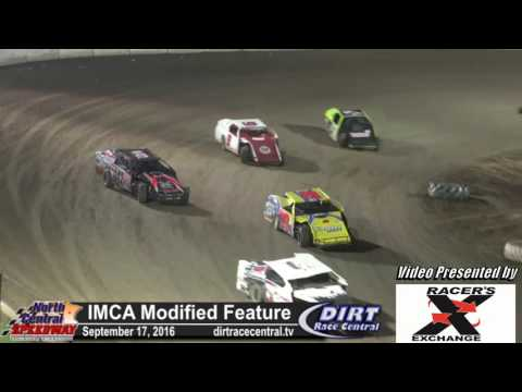 North Central Speedway 9/17/16 IMCA Modified final laps