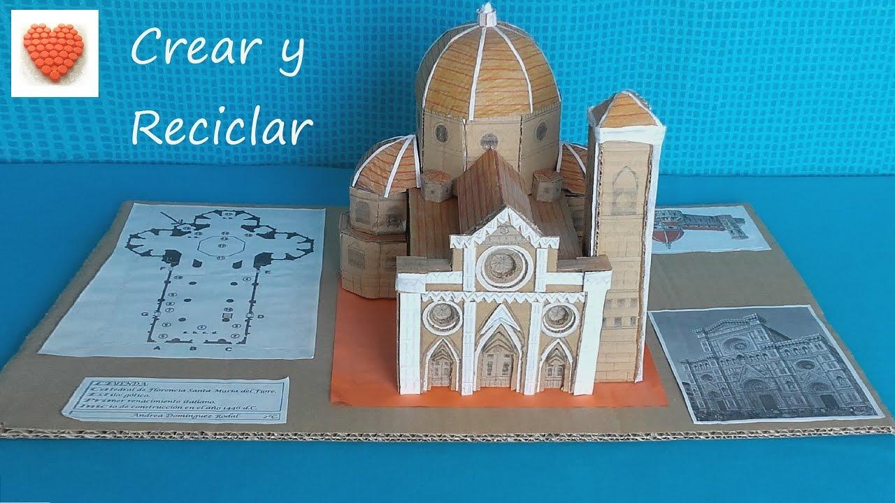 Maqueta de la Catedral de Florencia con materiales