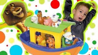 Учим танцующих животных с Данькой. Обзор детской игрушки ковчег Kiddieland !