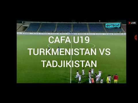 CAFA 2019 U19 TURKMENISTAN VS TADJIKISTAN.Туркманистан 1-5 Таджикистан