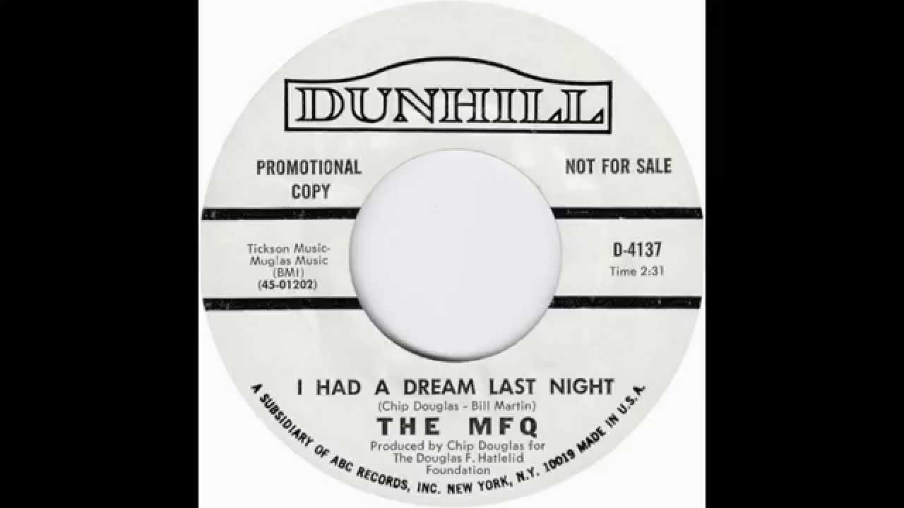 Download The MFQ (Modern Folk Quartet) - I Had A Dream Last Night