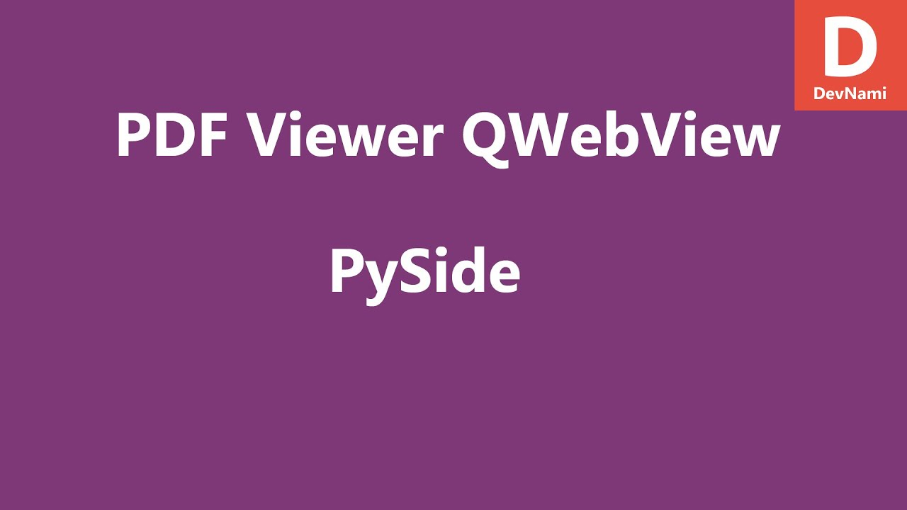 PySide PDF Viewer QWebView