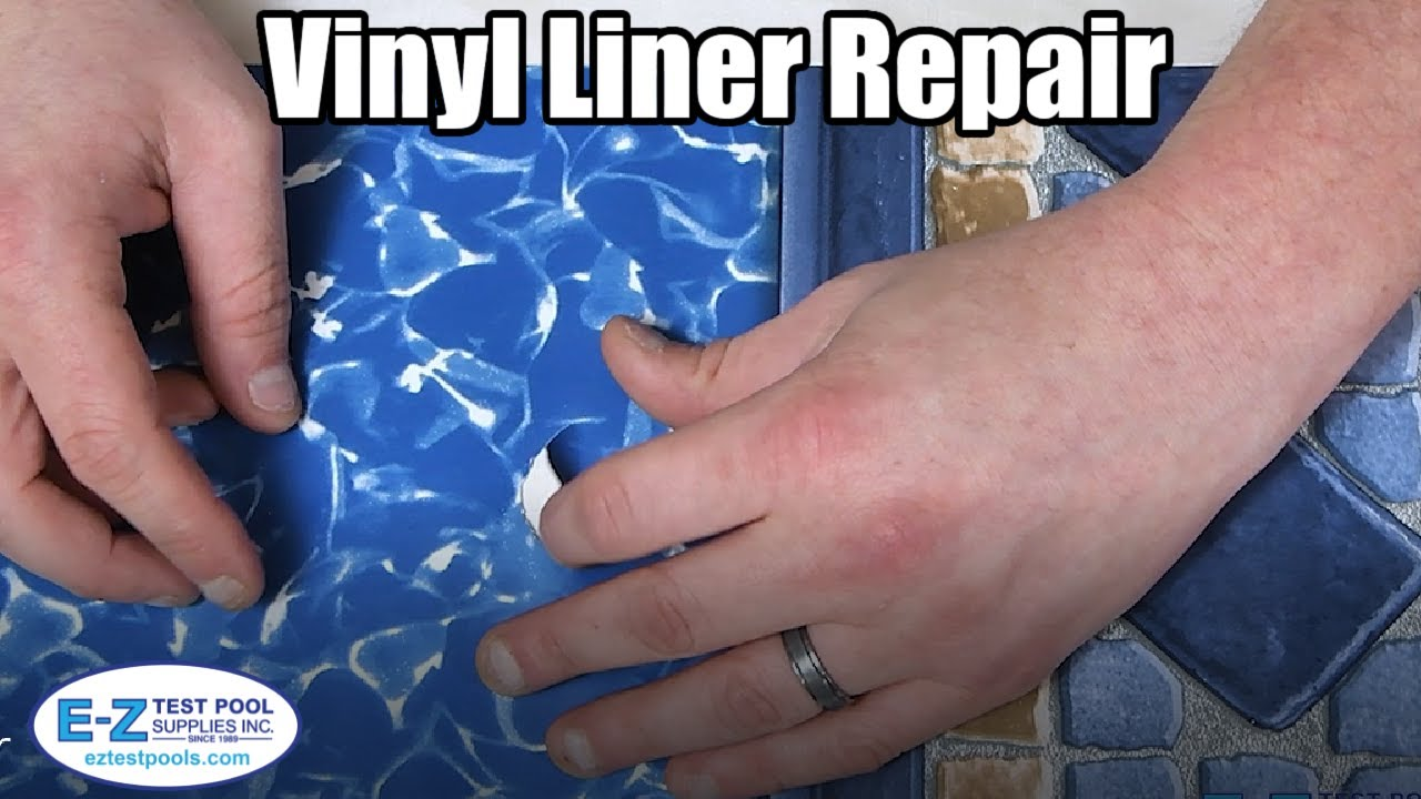 How To Repair Patch A Leaking Vinyl Liner Pool Youtube