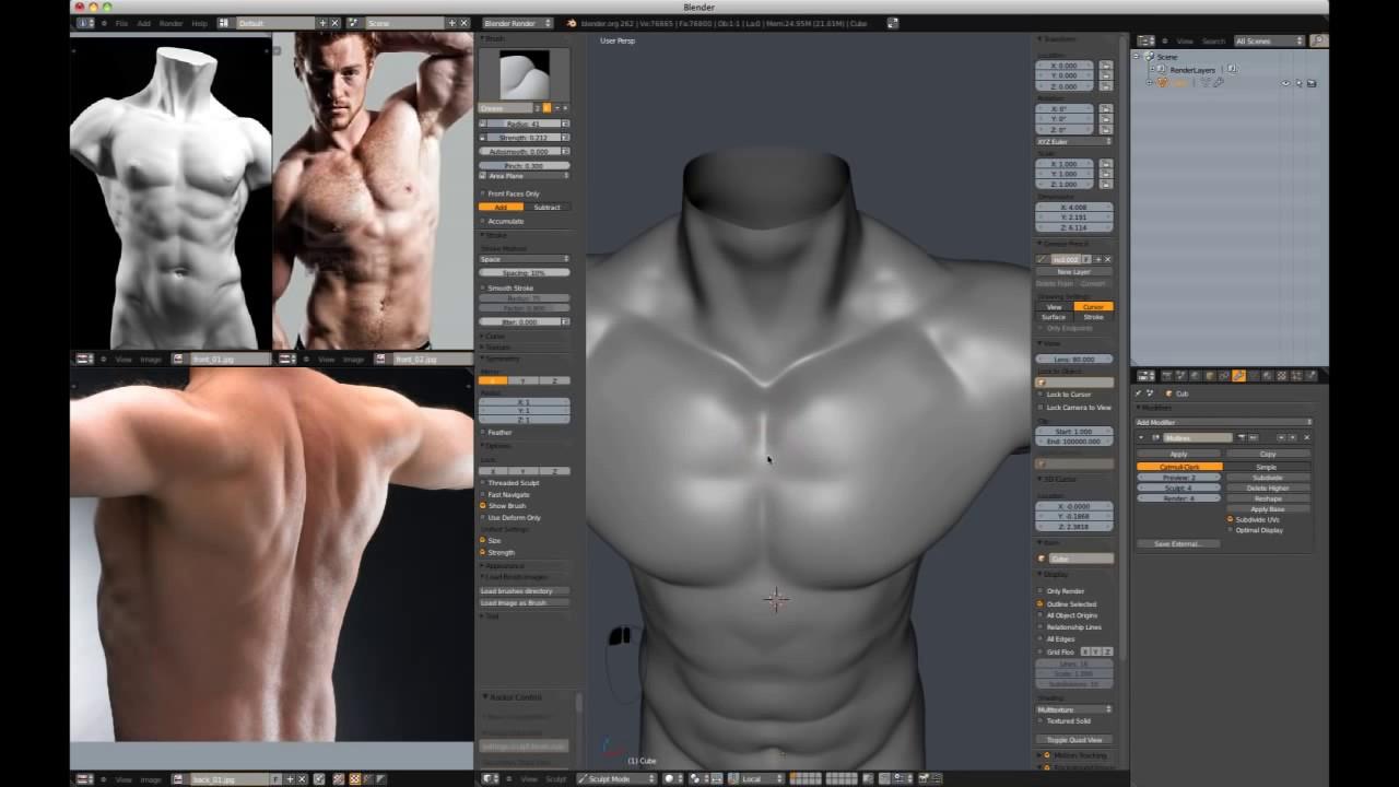 Blender character modeling home | facebook.