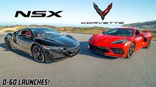 C8 CORVETTE VS ACURA NSX!