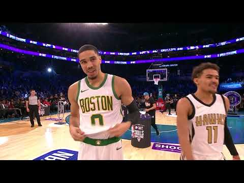 Jayson Tatum Wins 2019 Skills Challenge With Half Court Shot vs. Trae Young | All-Star Weekend