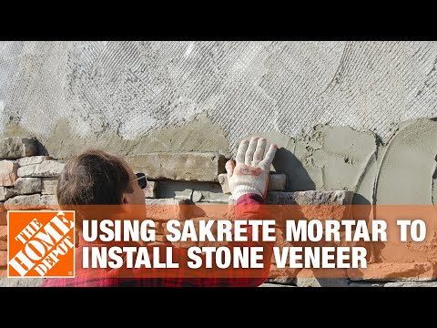 How To Use Sakrete Mortar To Install Stone Veneer | The Home Depot