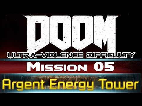 DOOM - Mission 5: Argent Energy Tower (Ultra-violence difficulty)
