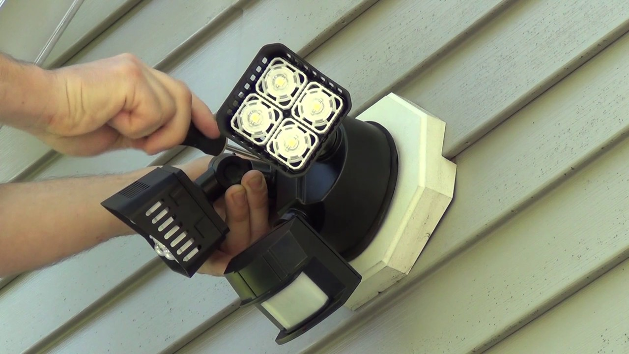 How to install a floodlight or security light youtube how to install a floodlight or security light aloadofball Gallery