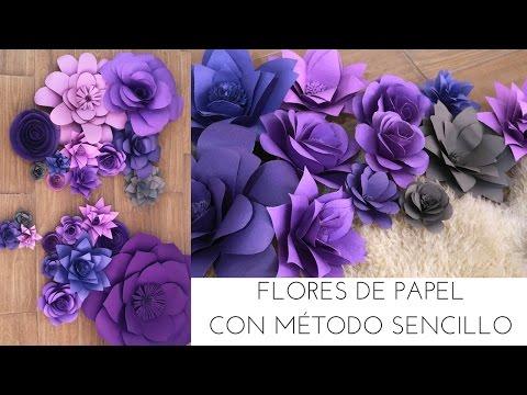 FLORES DE PAPEL MÉTODO SENCILLO / DIY | DECORANDO UNA BODA | Pabla En Casa