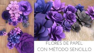 FLORES DE PAPEL MÉTODO SENCILLO / DIY | DECORANDO UNA BODA | Pabla en casa thumbnail