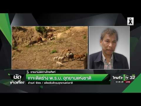 ย้อนหลัง ขีดเส้นใต้เมืองไทย : เกาะติดร่างพ.ร.บ.อุทยานฯ | 01-02-60 | ชัดข่าวเที่ยง
