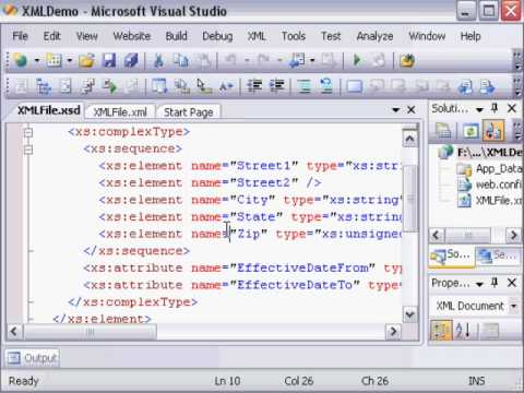 Visual Studio 2008: Create XSD File