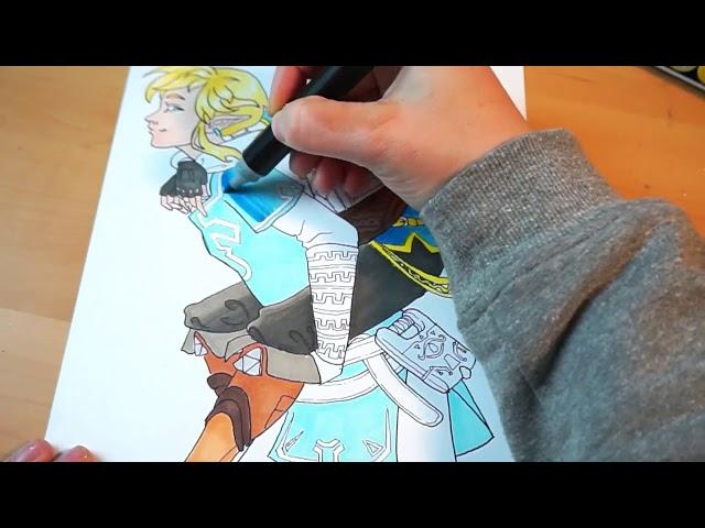 The Legend of Zelda – Breath of the Wild fan art tutorial