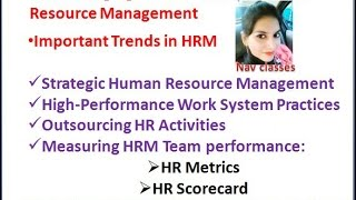 Trends in HRM- SHRM, HPWS, outsourcing HR activities | Class 5
