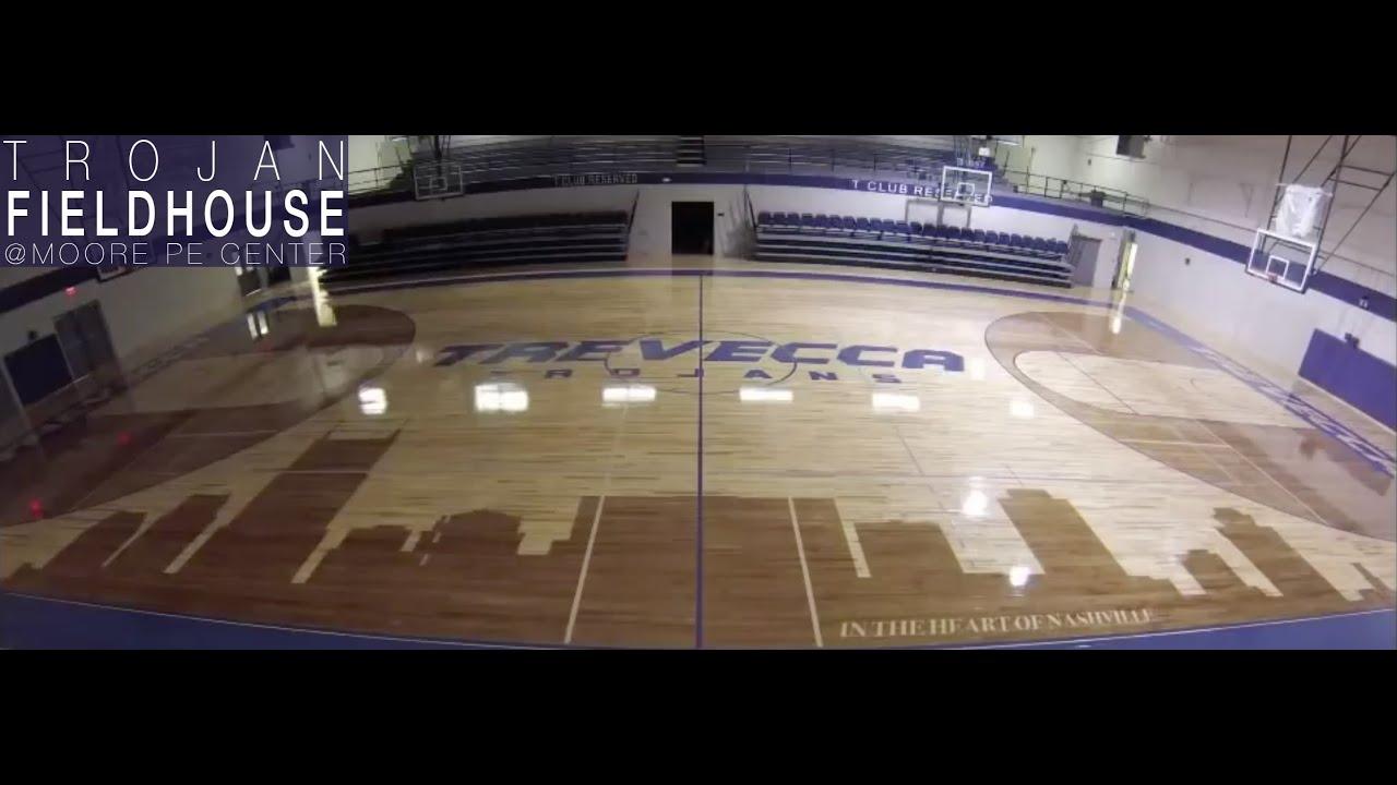 Trevecca   Trojan Fieldhouse New Floor - YouTube