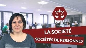 La société : les sociétés de personnes - Droit - digiSchool