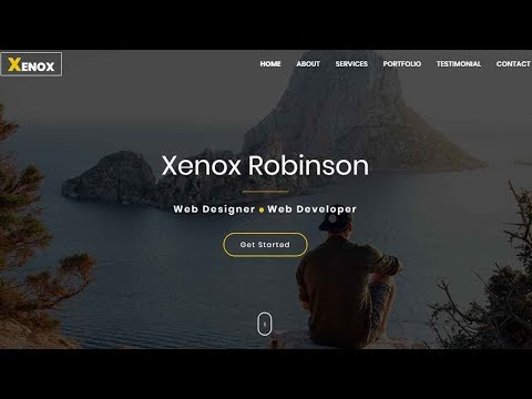 Xenox - One Page Personal Portfolio Template | Themeforest HTML Template