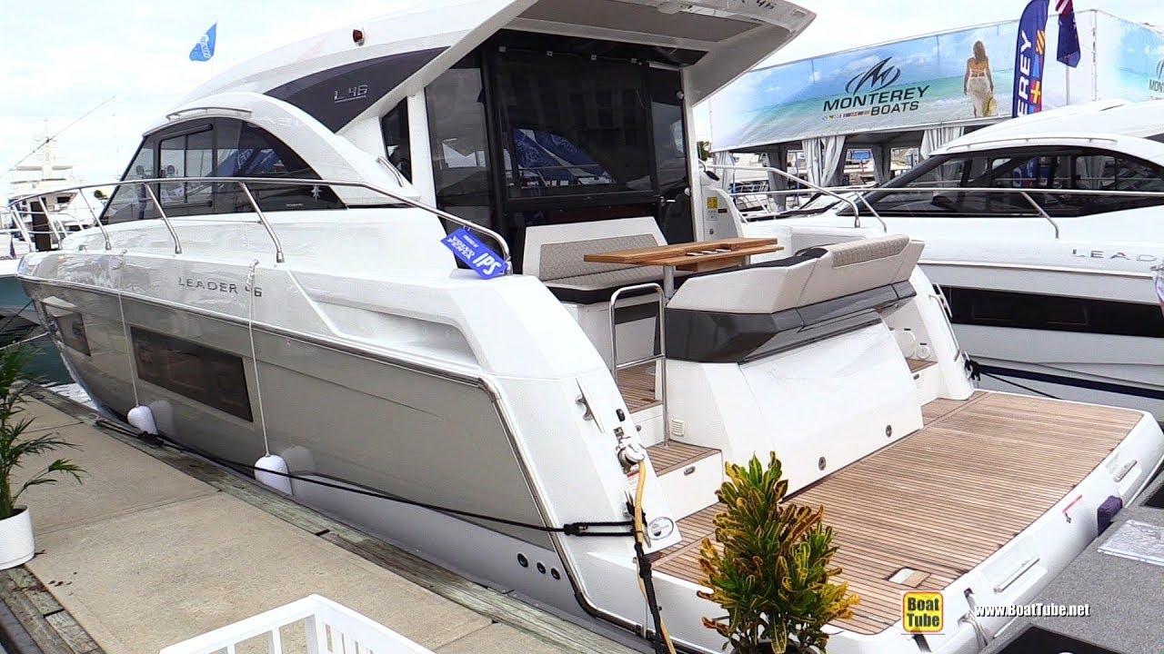 2019 Jeanneau Leader 46 Motor Yacht - Walkaround - 2018 Fort Lauderdale  Boat Show