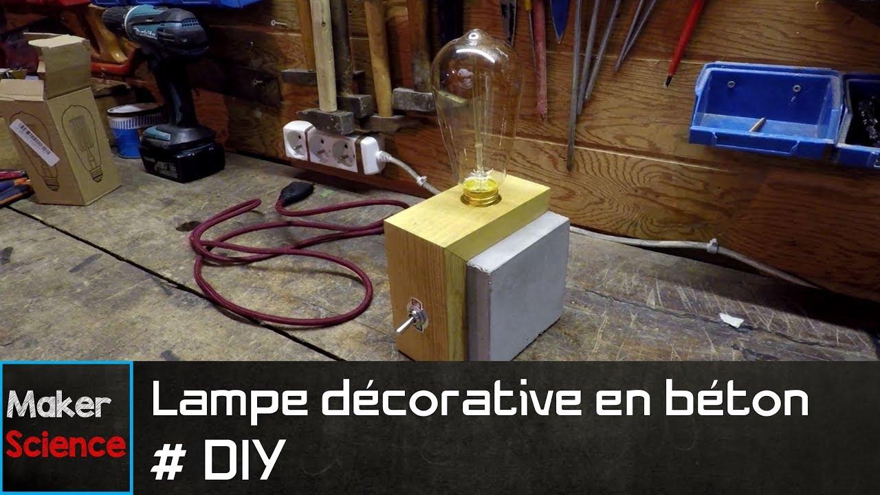 #DIY Lampe décorative en béton