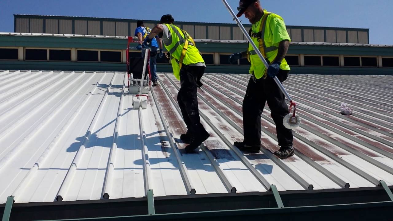 Metal Roof Painting Youtube