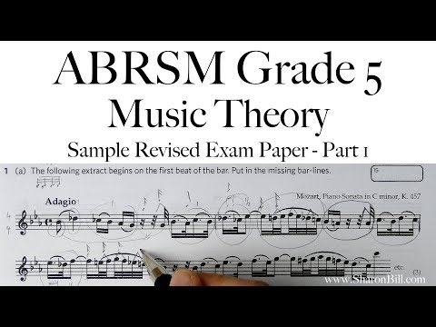 ABRSM Music Theory Grade 5 Sample Revised Exam Paper Part 1 with Sharon Bill