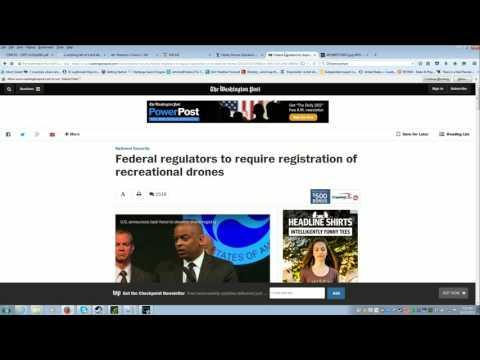 Hobby Drone Registration Rant.