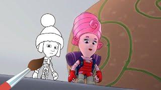Холодильник - Мультик Раскраска Фиксики - Fixiki - Учим цвета - обучающее видео