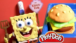 Play Doh Spongebob Talking Krabby Patty Maker by Nickelodeon Disneycollector Toy Review