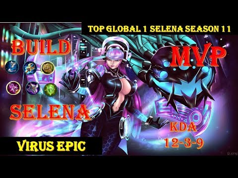 SELENA GAMEPLAY by top GLOBAL 1 I TIPS and BUILD for SLENA SEASON 11 2019