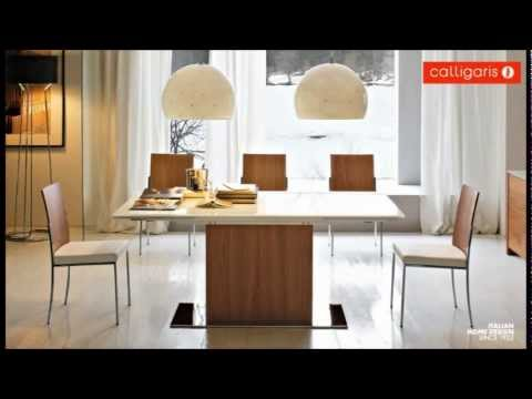 Charming Calligaris Park Glass Extendable Dining Table