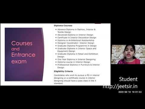 Interior Designing Presentation On Interior Designing By Priya Youtube