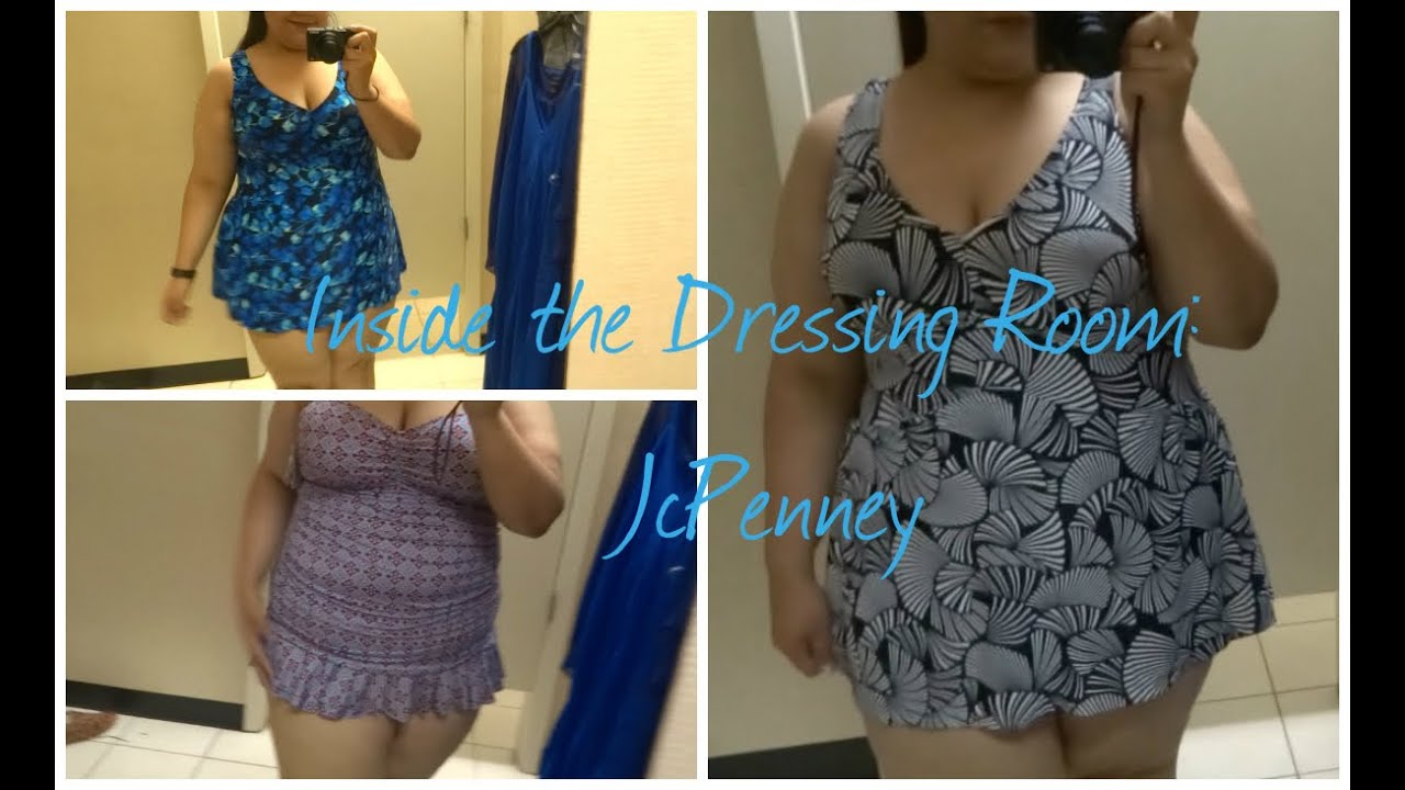 swimwear try on - inside the dressing room: jcpenney plus size