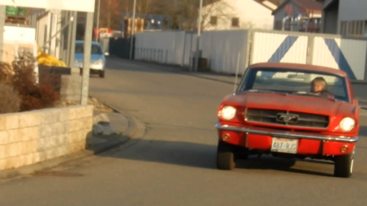 1964 1 2 Ford Mustang 260cui V8 Rangoon Red Youtube Fastback