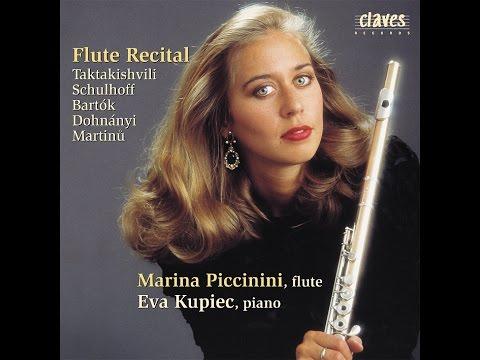 Marina Piccinini - Otar Taktakishvili: Sonata for Flute & Piano in C Major