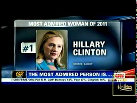 HILLARY CLINTON MAKES GALLUP HISTORY WITH HER 16th YEAR AS THE MOST ADMIRED WOMAN IN AMERICA ~ 2011
