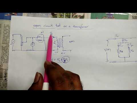 Open circuit test of a transformer