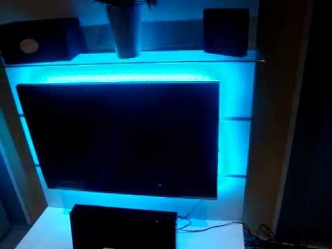 rgb led backlight hinter tv youtube. Black Bedroom Furniture Sets. Home Design Ideas
