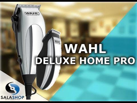 b7ced3434 Unboxing Apresentação Kit Máquina de Cortar Cabelo e Acabamento  Profissional Wahl Deluxe Home Pro