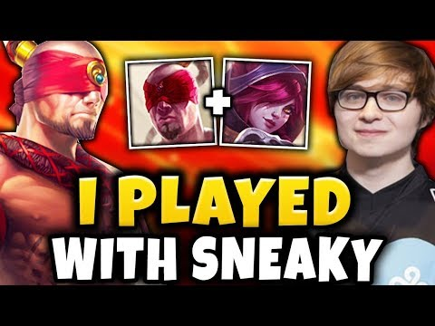 I PLAYED WITH SNEAKY | Road to Grandmaster #11 S9 - League of Legends thumbnail