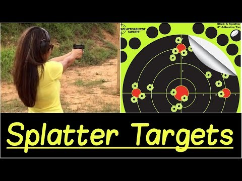 🎯 Splatter Target Review | Best Shooting Practice Targets for Any Shooting Range Indoor/Outdoor