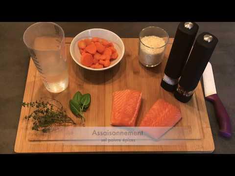 recette-minceur-cookéo-:-saumon-riz-carottes
