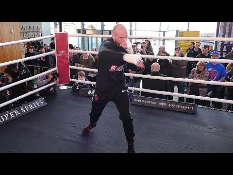 George Groves PUBLIC WORKOUT in Manchester ahead of his fight with Chris Eubank Jr