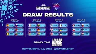 FIBA EuroBasket 2022 Draw