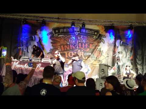 "Moonshine Bandits ""Dead Mans Hand"" Live at Ink Life Tour Longview"