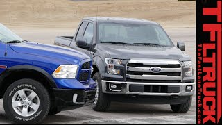 2015 Ford F-150 2.7L vs Ram 1500 EcoDiesel Mashup Review: Speed vs Torque